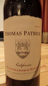 Thomas Patrick Lot 2 Red Blend